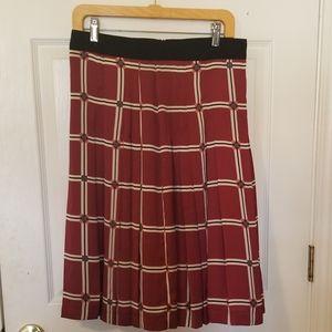 Zara Geometric Pleated A-line Skirt,  Sz M